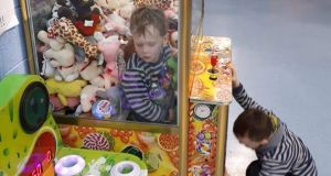 Jamie Bracken-Murphy (3), who got stuck in a toy machine in Nenagh, Co Tipperary.  Photograph: Damien Murphy/Facebook/PA