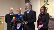 Sinn Féin's Adams pays tribute to 'passionate Irish republican' McGuinness