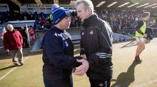 Waterford manager Derek McGrath with Cork manager Kieran Kingston after the recent league clash at Walsh Park. Photograph: Morgan Treacy/Inpho