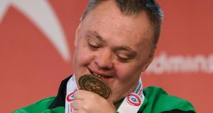 Cyril Walker, a member of Skiability Special Olympics Club, from Markethill, Co Armagh.