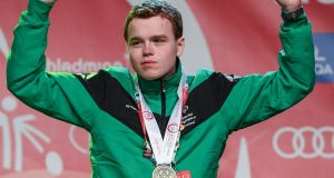 Seán McCartan, a member of Skiability Special Olympics Club, from Carryduff, Co Antrim.