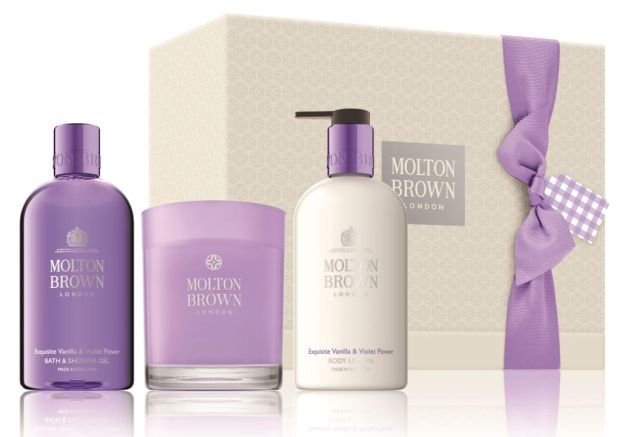 Molton Brown Exquisite Vanilla & Violet Flower Body & Home Gift Set (€87)