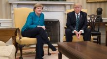 During Angela Merkel's visit to Washington he credited Germany with smarter negotiators. But there are no such negotiators.  (Stephen Crowley/The New York Times)
