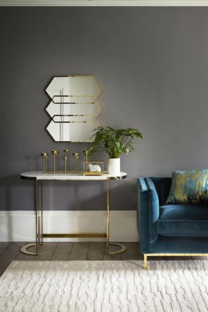 This Triple Geo mirror, €199, is just one of a number of cool affordable designs at Marks and Spencer (marksandspencer.ie) and can be ordered online to ensure safe delivery. The plush Dante chair, €1,349 and console table, €809, offer a luxurious way of layering the look.