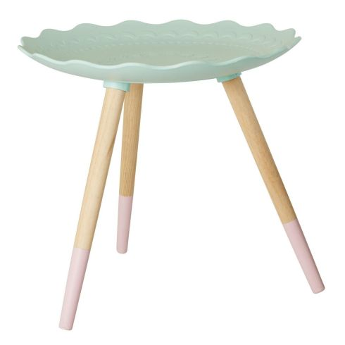 UK-based Sisters Guild has a really smart mint-topped side table, by Danish brand Rice DK, priced at a pocket-friendly €68.90, ex delivery. sistersguild.co.uk