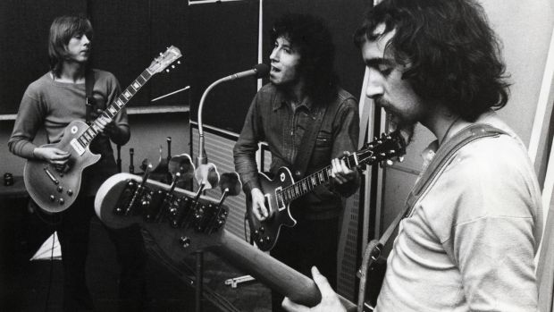 Fleetwood Mac in 1969. From left: Danny Kirwan, Peter Green and John McVie