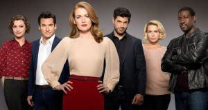 Mireille Enos as lead PI with her team in 'The Catch' on Sky Atlantic