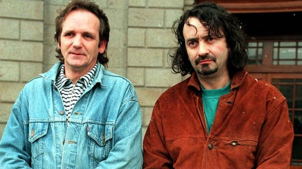 Paddy Armstrong (left) and Gerry Conlon, pictured in Dublin, in 1996. Photograph: Paddy Whelan