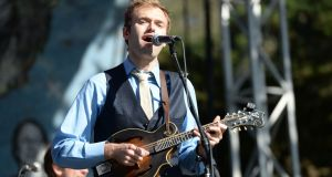 Chris Thile: mesmerising performance. Photograph: Scott Dudelson/Getty Images