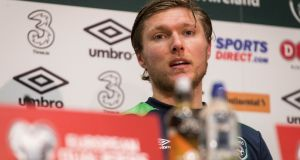 "Jeff Hendrick. ""I don't see a reason why I can't keep learning and improving over the next few years."" Photograph: Ryan Byrne/Inpho"
