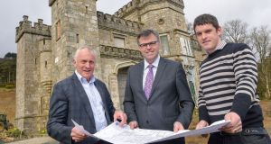 Mike Boyle, Jaramas Investments NI Ltd, Alastair Hamilton, Invest NI, and Mark Donohoe, project manager