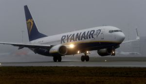 Ryanair outperformed most of its peers, ending the day down 1.5 per cent to €14.49. Photograph: Ints Kalnins/Reuters