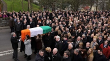 Huge crowds turn out for Martin McGuinness's funeral in Derry