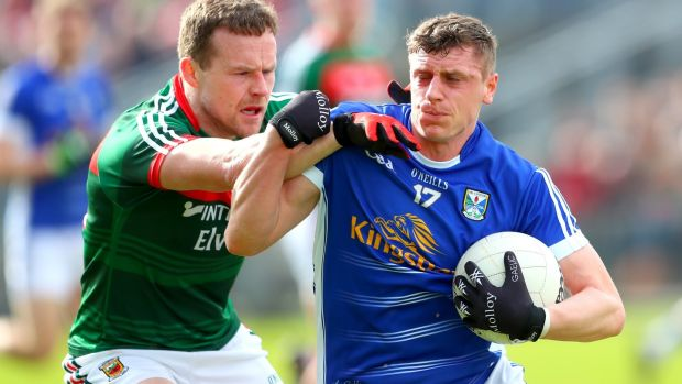 As seen against Cavan, Mayo are still far too reliant on Andy Moran. Photograph: James Crombie/Inpho