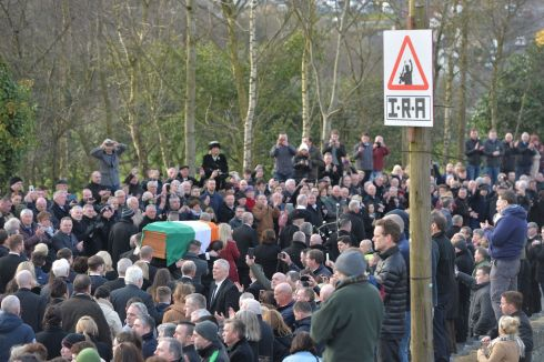 Mourners gather in Derry to remember Martin McGuinness