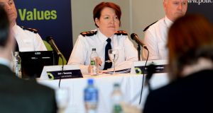 The Policing Authority raised its concerns with Garda Commissioner Noirin O'Sullivan at a public meeting.   Photograph: Cyril Byrne