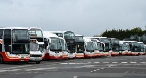 Five trade unions, representing the 2,600 staff at Bus Éireann, announced the strike after a three-hour meeting on Thursday. Photograph: The Irish Times