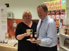 Suzanne Livingstone of Baked in Belfast with Graham Keddie, managing director  of Belfast International Airport.