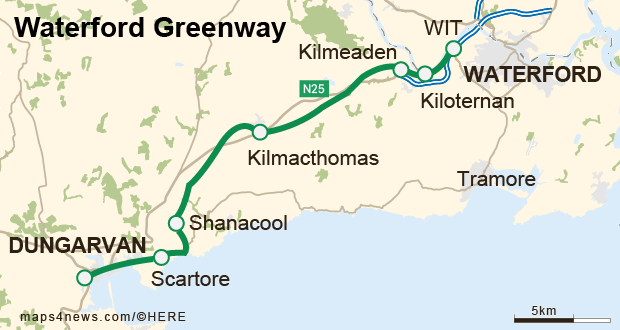 Waterford Greenway: 46km off-road trail built on old Waterford-Mallow rail line
