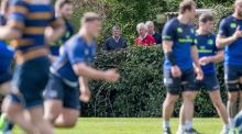 Some locals watch Leinster training at UCD during the week. Photograph: Inpho