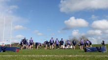 The Munster squad during training this week at University Limerick. Photograph: Inpho
