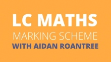 Leaving Cert maths: marking scheme for papers one and two