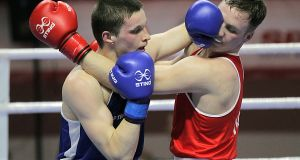 Irish boxer Michael O'Reilly (red) failed an out-of-competition drugs test just before the Rio Olympics last year. Photograph: Ilyas Gun/Inpho.