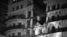 The Grand Hotel in Brighton after the IRA bombing  in 1984 that  left Margaret Tebbit paralysed. Photograph:  PA