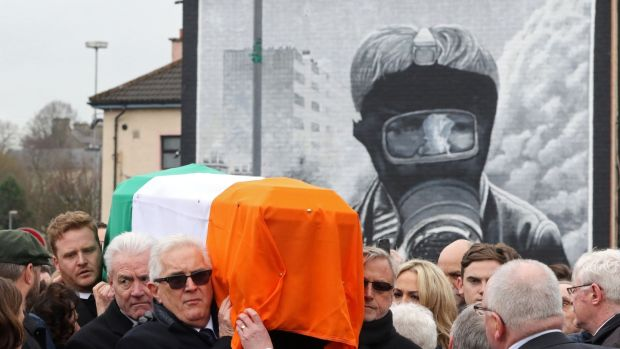"With partition nationalists north of the Border ""had been sold into political servitude"". That servitude was the making of McGuinness as an IRA leader. Photograph: Paul Faith/AFP/Getty Images"