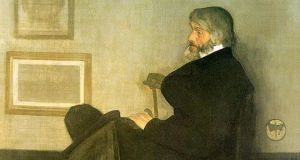 Arrangement in Grey and Black, No. 2: Portrait of Thomas Carlyle. James McNeill Whistler, 1872–73. Oil on canvas (detail). Kelvingrove Art Gallery and Museum, Glasgow.