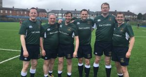 The Dáil and Seanad rugby team saw off a strong Commons and Lords side. Alan Farrell (FG), Aengus Ó Snodaigh (SF) Michael Darcy (FG) Sen Neale Richmond (FG), Jim O'Callaghan (FF) and Sen Mark Daly (FF).