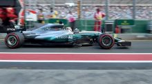 Lewis Hamilton claimed pole position for the season-opening Australian Grand Prix. Photograph: Paul Crock/Afp