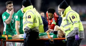 Ireland captain Séamus Coleman is due to undergo surgery on Saturday. Photograph: Ryan Byrne/Inpho