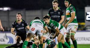 Tito Tebaldi of Treviso in action against Ospreys during the Guinness Pro 12 game at  Stadio Monigo. Photograph: Alfio Guarise/Inpho