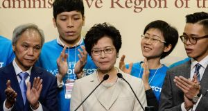 Hong Kong's new leader Carrie Lam has a reputation as a safe pair of hands. Photograph: AFP/Getty Images