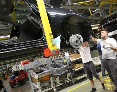 Opel's plant at Rüsselsheim: Each worker is expected to complete up to 7,830 tasks during their shift.