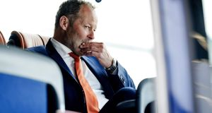 "Netherlands manager Danny Blind: ""The blame is on me. It falls firmly on my roof."" Photograph: Robin van Lonkhuijsen/AFP/Getty Images"
