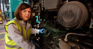 Marie Beegan, the first woman graduate from CIÉ's heavy goods vehicle apprentice scheme  in the 1980s, is encouraging more women to sign up for the scheme. Photograph: Cyril Byrne