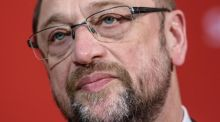 Martin Schulz: his SPD party is neck and neck with Angela Merkel's CDU/CSU. Photograph: Clemens Bilan/EPA