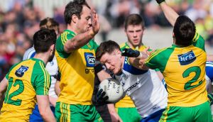 Donegal and Monaghan: It may be time to ban these teams from playing each other for a while. Photograph: Trevor Lucy/Presseye/Inpho