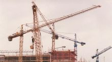 Sentiment in the construction sector picked up in March, according to the latest Bank of Ireland economic survey. Photograph: Alan Betson