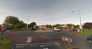 A woman cyclist was killed when in collision with a  lorry shortly before 2.30pm on Monday  at the roundabout between Templeville Road and Whitehall Road in Dublin 6W. File photograph: Google Street View