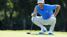 Dustin Johnson during the final match of the World Golf Championships-Dell Technologies Match Play at the Austin Country Club on Sunday. Photograph: Richard Heathcote/Getty Images