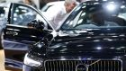A Volvo  at the Bangkok International Motor Show: retail sales fell by 0.5 per cent in February on the back of a near 6 per cent slide in car sales. Photograph: PA/Narong Sangnak/EPA