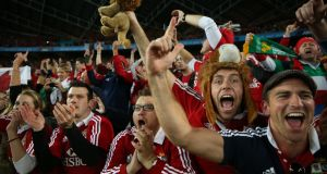 British and Irish Lions fans at Stadium Australia in Sydney in 2013. Photograph: Steve Christo/Corbis via Getty Images