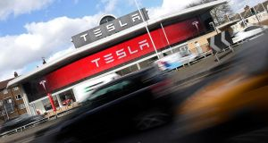 Tesla shares were up 2.5 per cent in pre-market trading following the news. Photograph: Toby Melville/Reuters