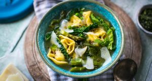 Donal Skehan: spring minestrone drop soup