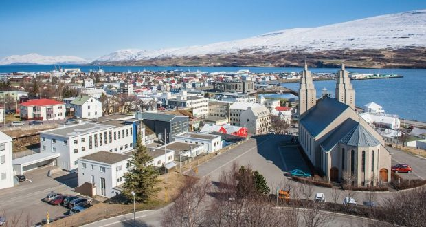Akureyri Has A Stunning Setting In The Basin Of Eyjafjörður Fjord North