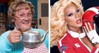 A lot in common: Mrs Brown and RuPaul. Photographs:  Graeme Hunter/Logo TV