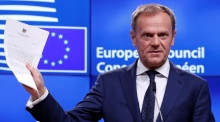 'Thank you and goodbye': EU's Tusk accepts Brexit notice